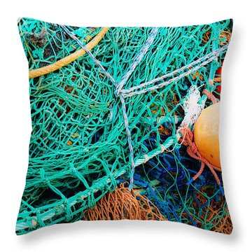 Fishing Nets And Floats Throw Pillow