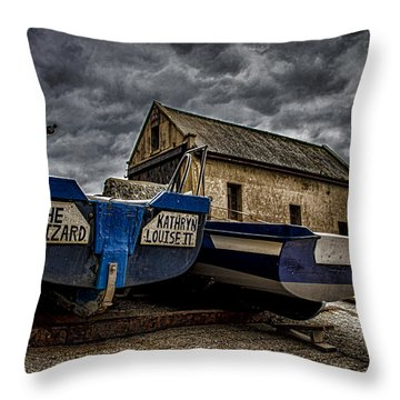 Fishing Off The Lizard Throw Pillow by Martin Newman