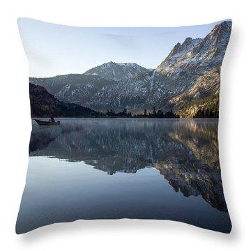 Fishing On Silver Lake  Throw Pillow