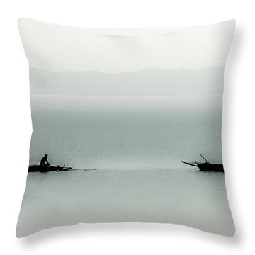 Fishing On The Philippine Sea   Throw Pillow