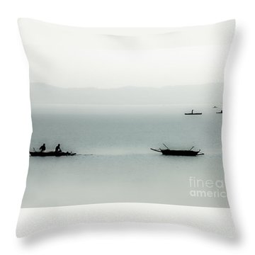 Fishing On The Philippine Sea   Throw Pillow