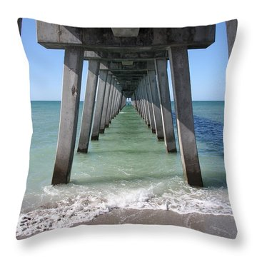 Fishing Pier Architecture Throw Pillow