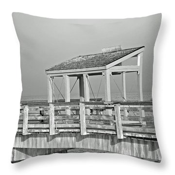 Throw Pillow featuring the photograph Fishing Pier by Tikvah's Hope