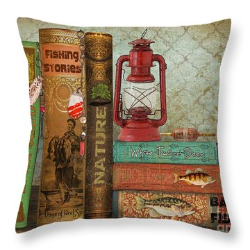 Fishing Storie Throw Pillow