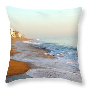 Fishing The Atlantic Throw Pillow