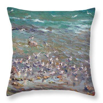 Fishing Time Throw Pillow