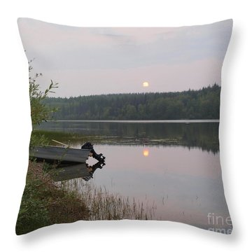 Fishing Tranquility Throw Pillow