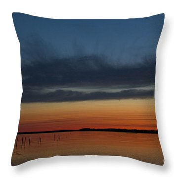 Fishing Weirs  Throw Pillow by Alana Ranney