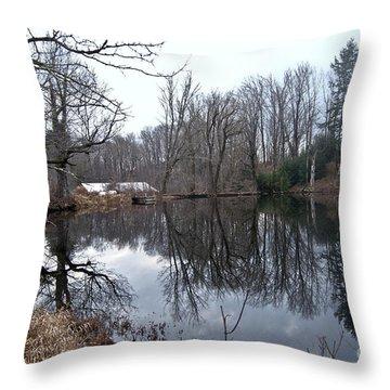 Fishing With Grandma Throw Pillow
