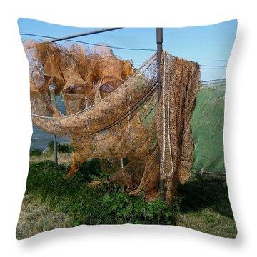Throw Pillow featuring the photograph Fishnet by Susanne Baumann
