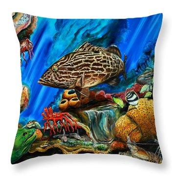 Fishtank Throw Pillow