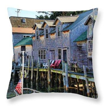 Fishtown Leland Michigan Throw Pillow