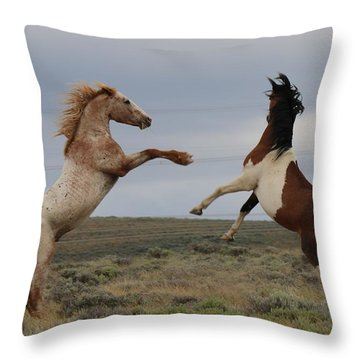 Throw Pillow featuring the photograph Fist Fight  by Christy Pooschke
