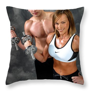 Fitness Couple 17-2 Throw Pillow by Gary Gingrich Galleries
