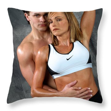 Fitness Couple 27 Throw Pillow by Gary Gingrich Galleries