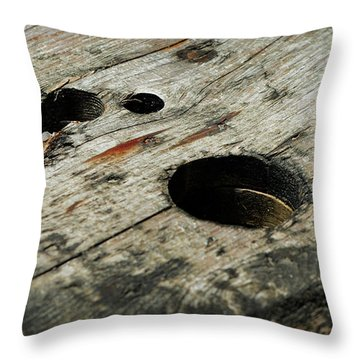 Fitting In Throw Pillow by Rebecca Sherman