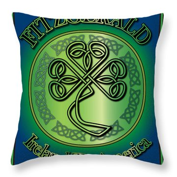 Fitzgerald Ireland To America Throw Pillow