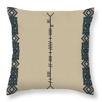 Fitzgerald Written In Ogham Throw Pillow