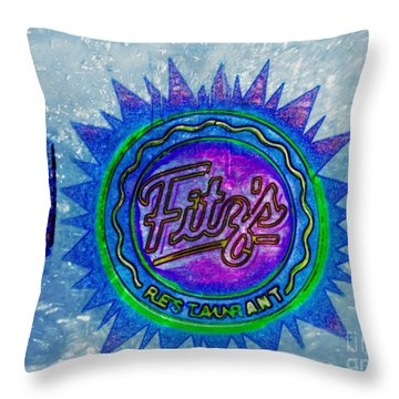 Fitz's Inverted With A Splash Throw Pillow