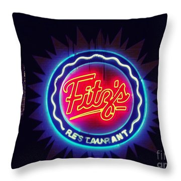 Fitz's Restaurant 2 Throw Pillow