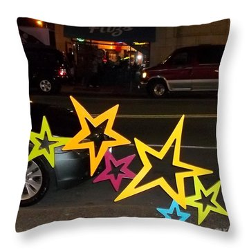 Throw Pillow featuring the photograph Fitz's Rootbeer by Kelly Awad