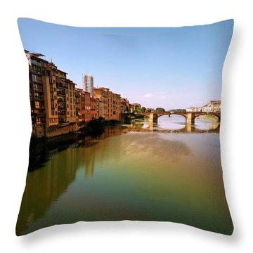 Fiume Di Sogni Throw Pillow by Micki Findlay