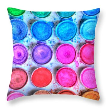 Five By Four Watercolor Throw Pillow by Heidi Smith