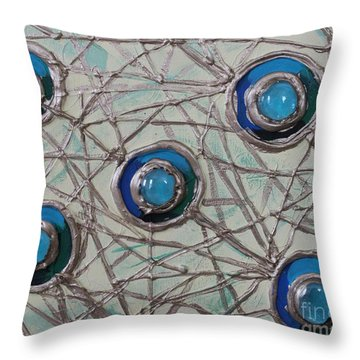 Five Circles Throw Pillow