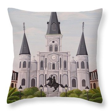Five Fifteen In New Orleans Throw Pillow