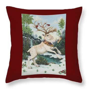 Five Gold Rings Throw Pillow