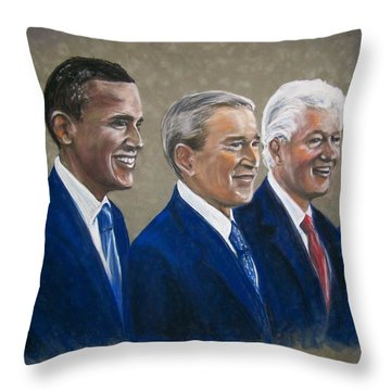 Five Living Presidents 2009 Throw Pillow