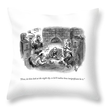 Five Mobsters Meet In A Dim Basement Throw Pillow