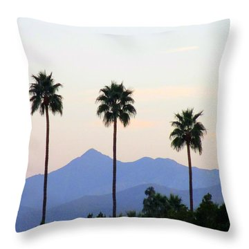 Five Palms Throw Pillow