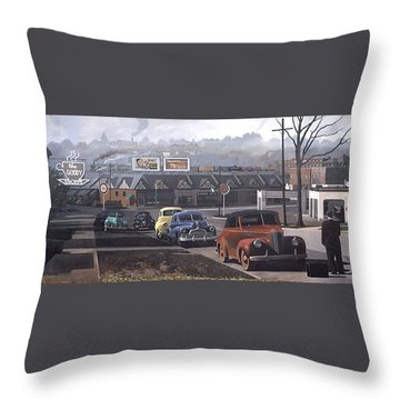 Five Points - 1948 Throw Pillow by Blue Sky