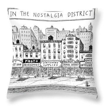 Five Stores On A Street Make-up The Nostalgia Throw Pillow