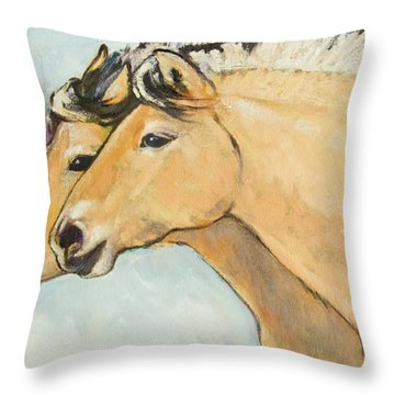 Fjord Race Throw Pillow