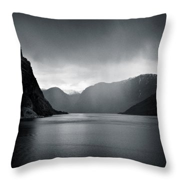 Fjord Rain Throw Pillow