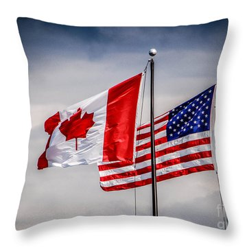 Flag Duo Throw Pillow