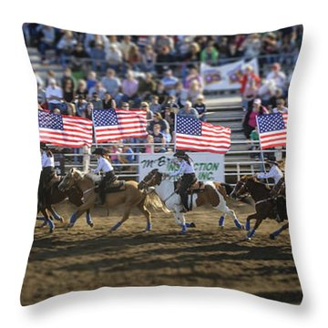 Flag Line Throw Pillow