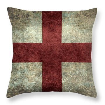 Flag Of England St Georges Cross Vintage Version To Scale Throw Pillow