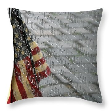 Flag On The Wall Throw Pillow