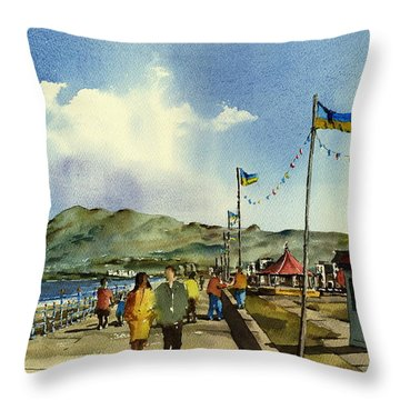 As I Walk Along The Promenade With An Independant Air  ....... Throw Pillow