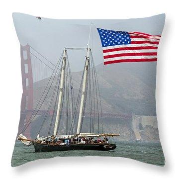 Flag Ship Throw Pillow