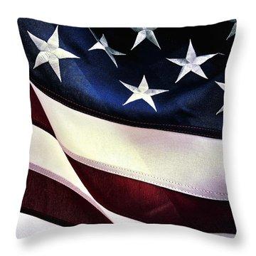 Flag Spotting At The Va Throw Pillow