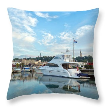 Flag View II Throw Pillow by James  Meyer