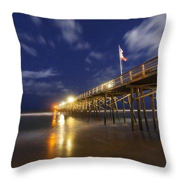 Flagler Pier Throw Pillow