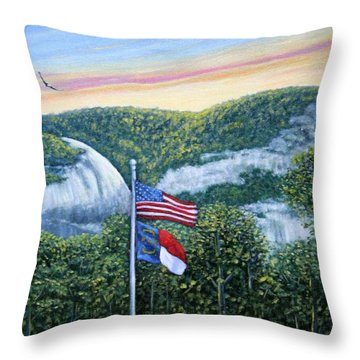 Flags At Sunset Throw Pillow