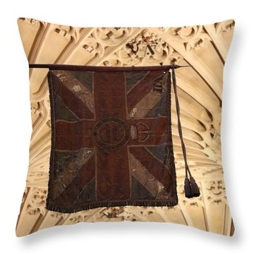 Flags Flying In The Abbey Throw Pillow