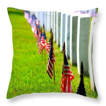 Flags In Throw Pillow