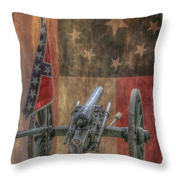 Flags Of The Confederacy Throw Pillow